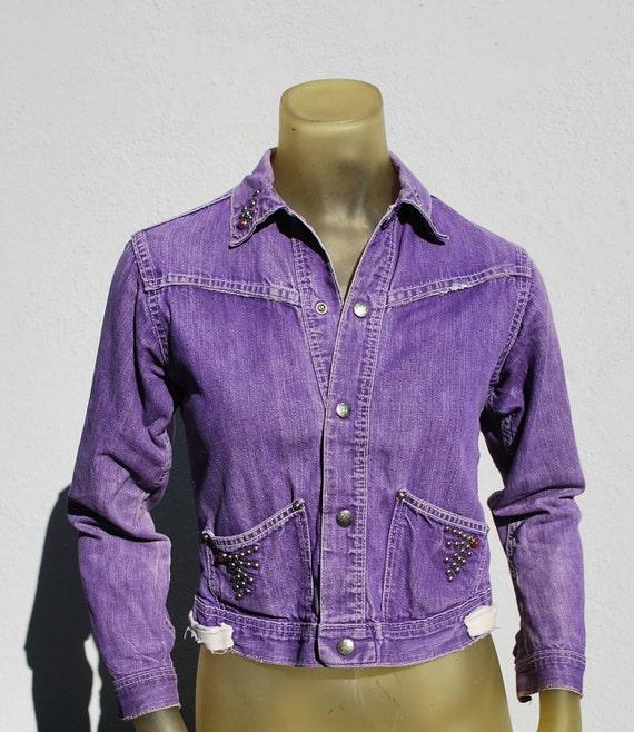 Vintage 70's western cowgirl cowboy denim jacket X