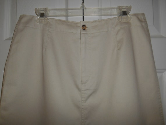 Clothing, Shoes & Accessories Talbots Sz 10 Khaki Skirt