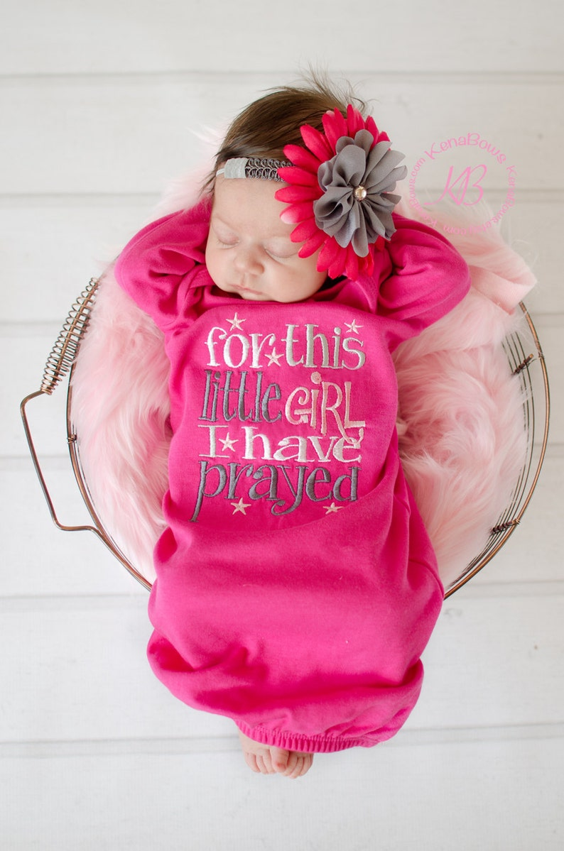 0c99574be Newborn Baby Gown  Hot Pink Infant Girl Gown For This Little