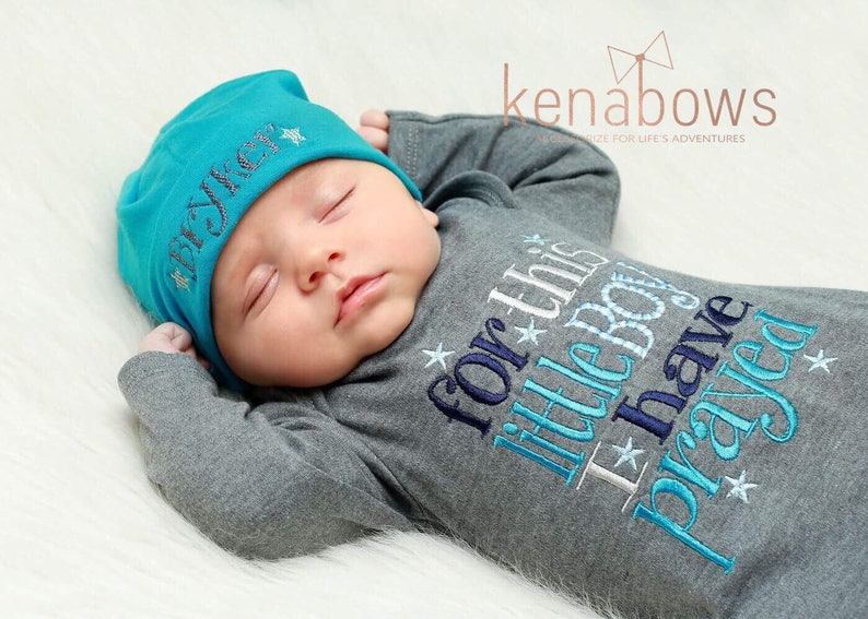 22795a40e6a Newborn Baby Gown  Grey Infant Boy Gown For This Little Boy I