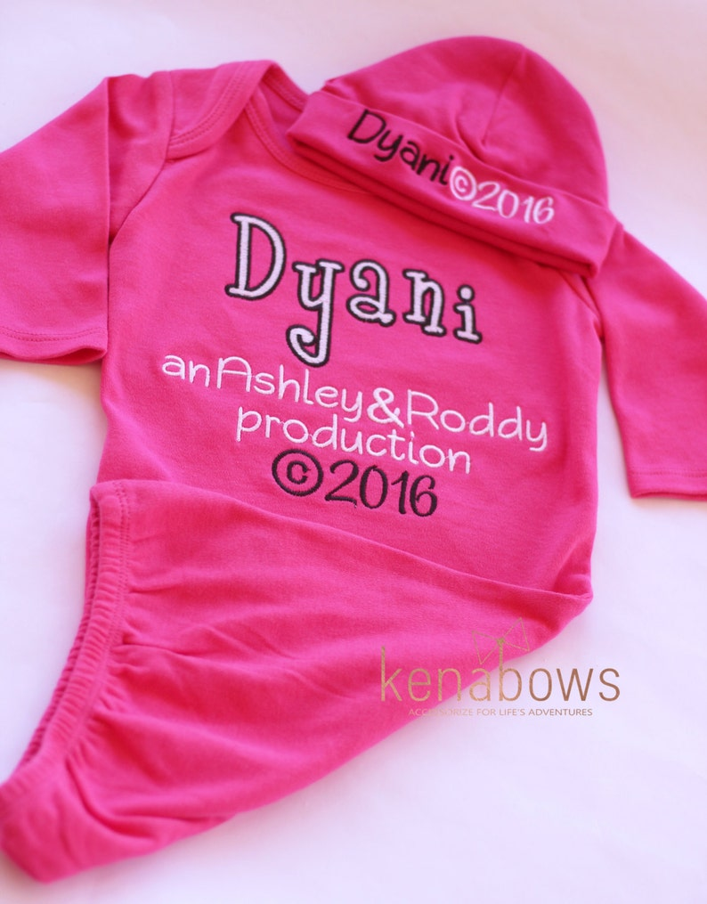 dab2fa5bc New Baby Girl Outfit Personalized Parent Production Birth