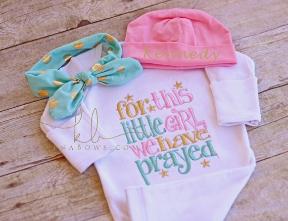 c3caa0d32e8 Newborn Baby Girl Gown For This Little Girl We Have Prayed