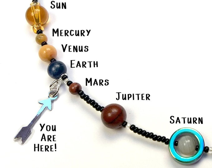 MiniVerse Charm Necklace, Solar System Necklace, Astronomy, Science, Science Gift, Planets, Astrology, Charm, Customizable,by Chain of Being