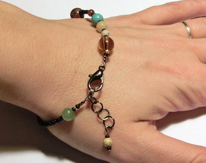 MiniVerse Bracelet, We Love Pluto Edition, Solar System Bracelet, Gemstone Planet, Science Jewelry, Distances of Space!, by Chain of Being