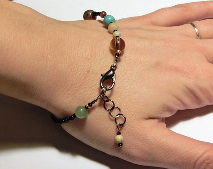 MiniVerse - We Love Pluto Edition - Solar System Bracelet - Gemstone Planets - Proportional Distances - 8.5in