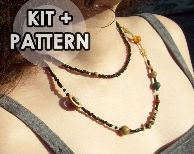 Kit, Solar System Necklace, Proportional Distances, Solar System Beadwork Kit, Cosmogram Necklace, Planets, Science, DIY, Craft Kit,Bead Kit