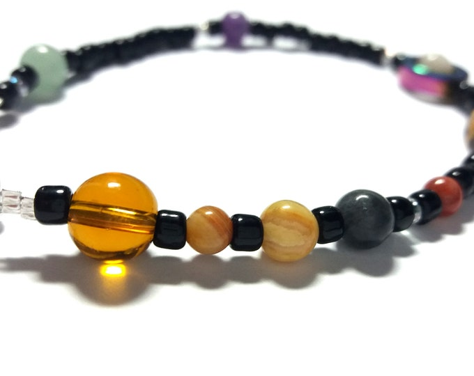 Jumbo MiniVerse Bracelet, Solar System Bracelet, Mens Bracelet, Man, For Him, Science Gift, Science Bracelet, MiniVerse, by Chain of Being