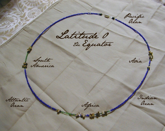 Equator Necklace - Distance measured in Beads