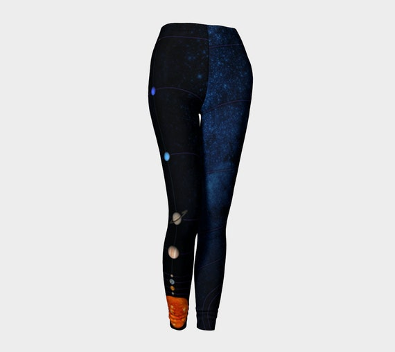 MiniVerse Leggings, 1 Dot = 10 Million Miles, Dark Galaxy, Solar System Pants,Planet Pants, Accurate Distances, Science Gift, Chain of Being