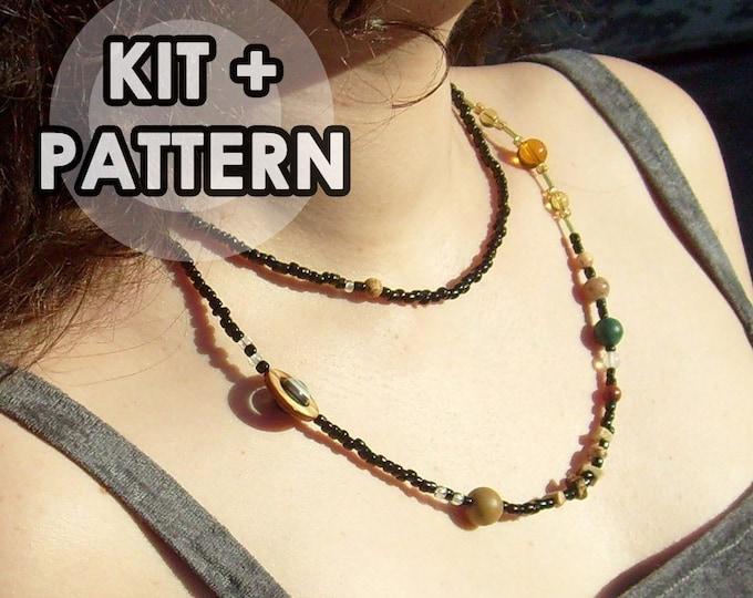 Kit, Solar System Necklace, Proportional Distances, Solar System Beadwork Kit, Cosmogram Necklace, Planets, Science, DIY, Craft Kit,Bead Kit