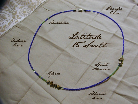 Latitude 15 South Necklace - Distance measured in Beads