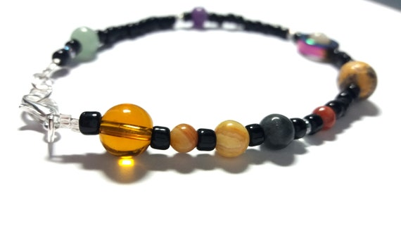Jumbo MiniVerse Bracelet, Solar System Bracelet, Mens Bracelet, Man, For Him, Science Gift, Science Bracelet, MiniVerse, by Chain of Being