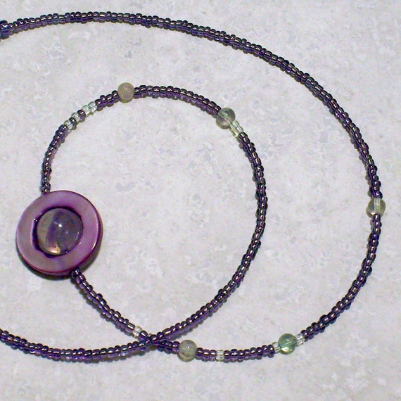 Moons of Saturn Necklace, Proportional Distances, Purple. Amethyst, Moonstone, Mother of Pearl, Celestial, Science Jewelry, Chain of Being