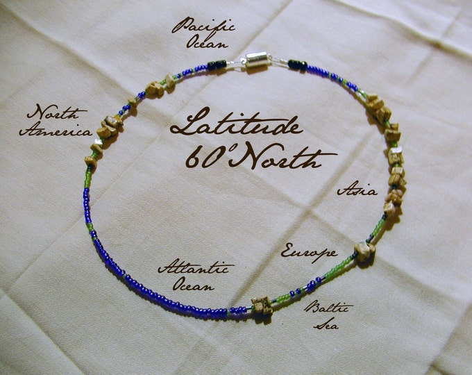 Latitude 60 North Necklace - Distance measured in Beads