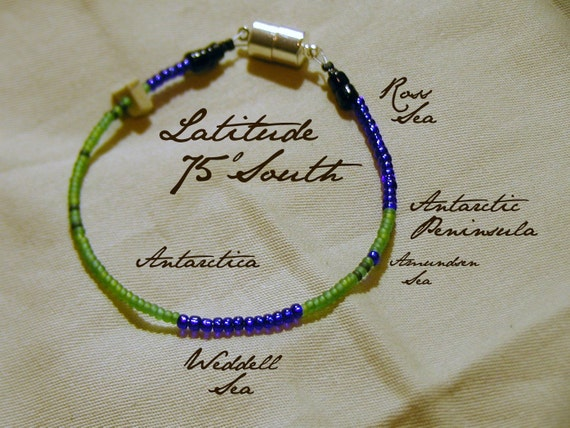 Latitude 75 South Bracelet - Distance Measured in Beads