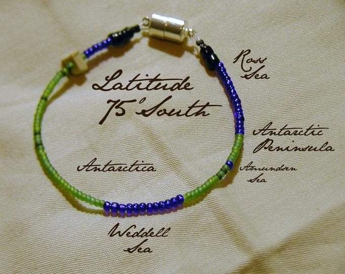 Latitude 75 South Bracelet - Distance Measured in Beads