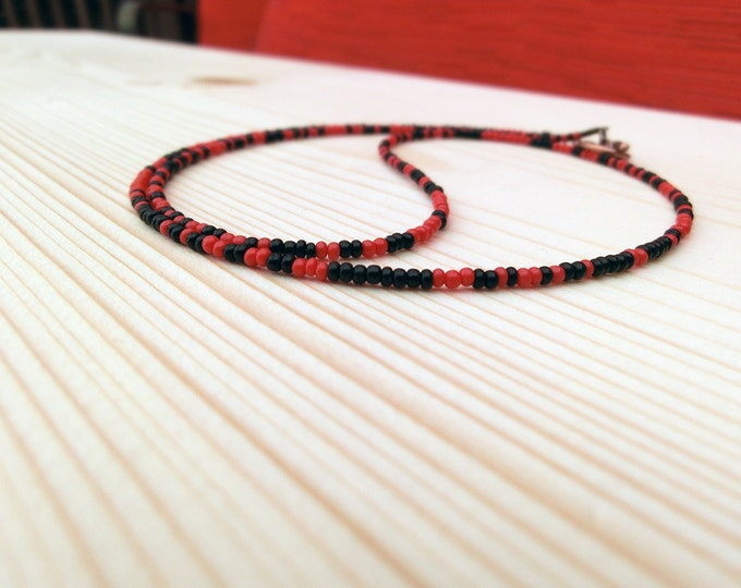 I Ching Necklace - Red and Black Beads (Audio Engineer's Model)