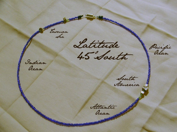 Latitude 45 South Necklace - Distance measured in Beads