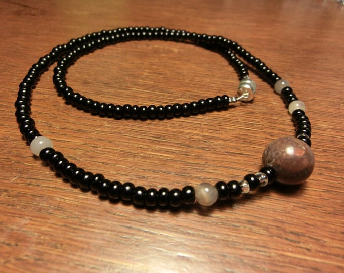 Moons of Jupiter Necklace - Planets of the Solar System and Proportional Distances - Mens Necklace - Planet Jupiter
