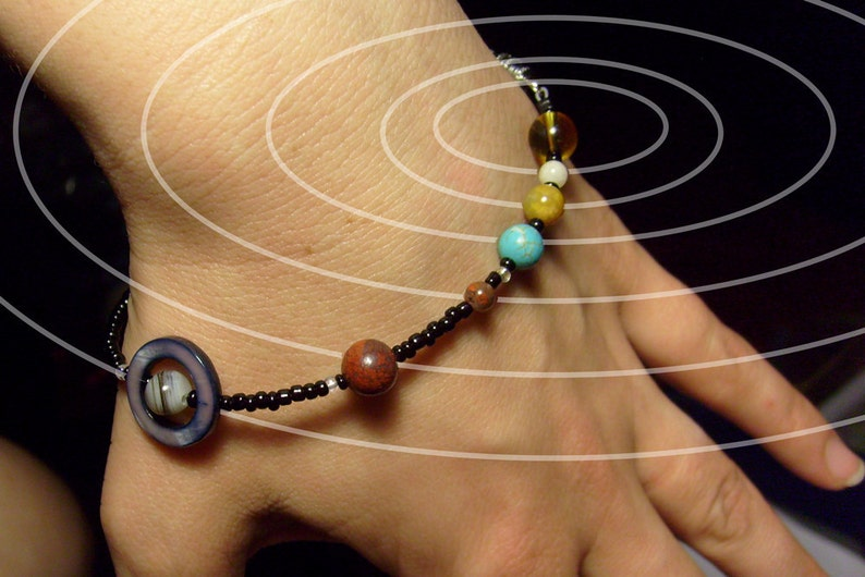MiniVerse Solar System Bracelet Accurate Distances image 0