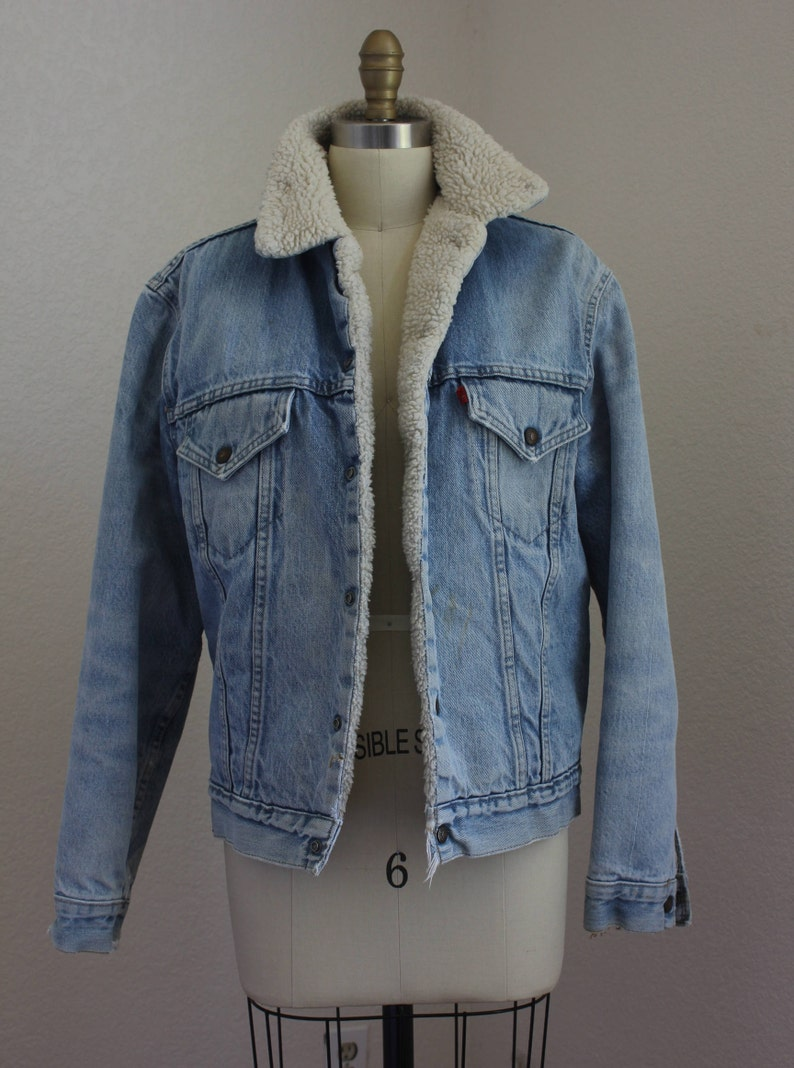 f0da0bd8 Vintage Levis fleece Lined Trucker Jacket | Etsy