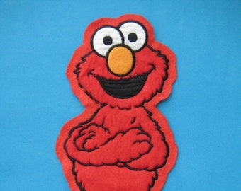 Big sew-on Patch Sesame Street Elmo 10 inch