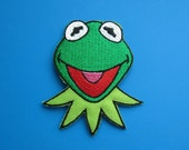 Iron-on Embroidered Patch Muppets Kermit the Frog 2.75 inch