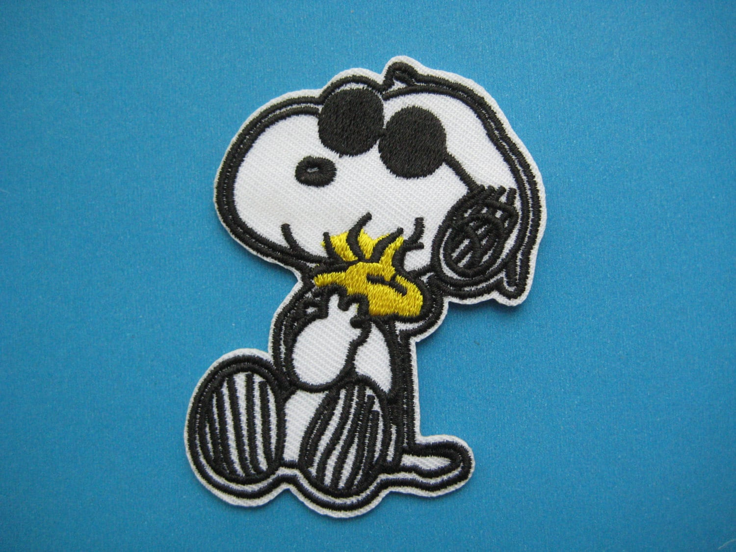 Iron on sticker embroidered applique snoopy and woodstock etsy