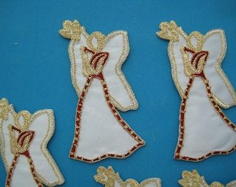 Wholesale Lot 6 pcs Iron-on Embroidered Patch Angel 3.25 inch