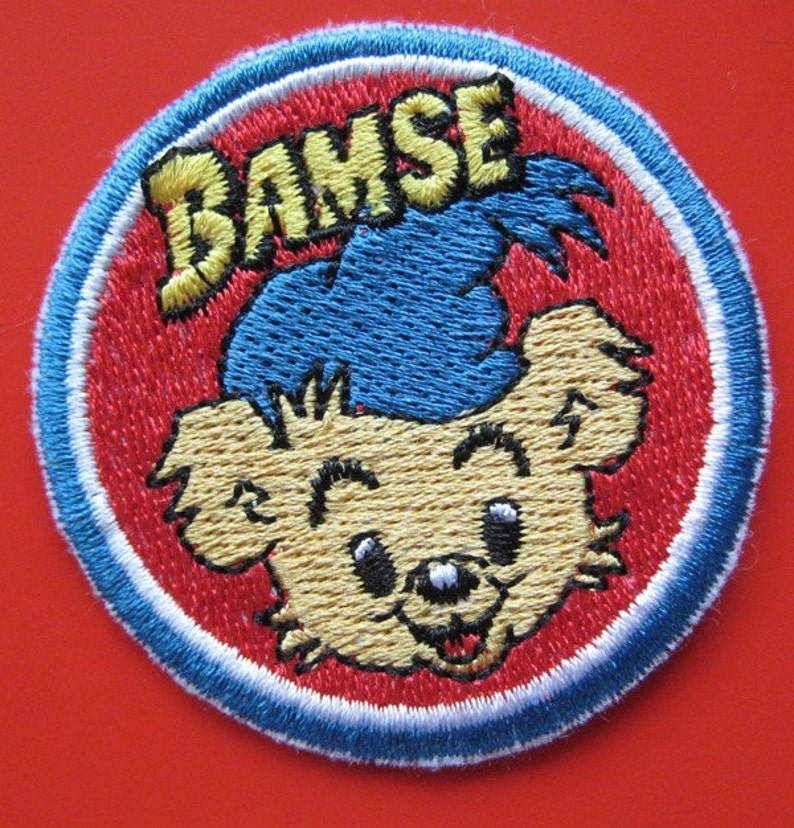 Sew-on/ Iron-on/ Sticker Embroidered Patch Bear Bamse 2 25 inch