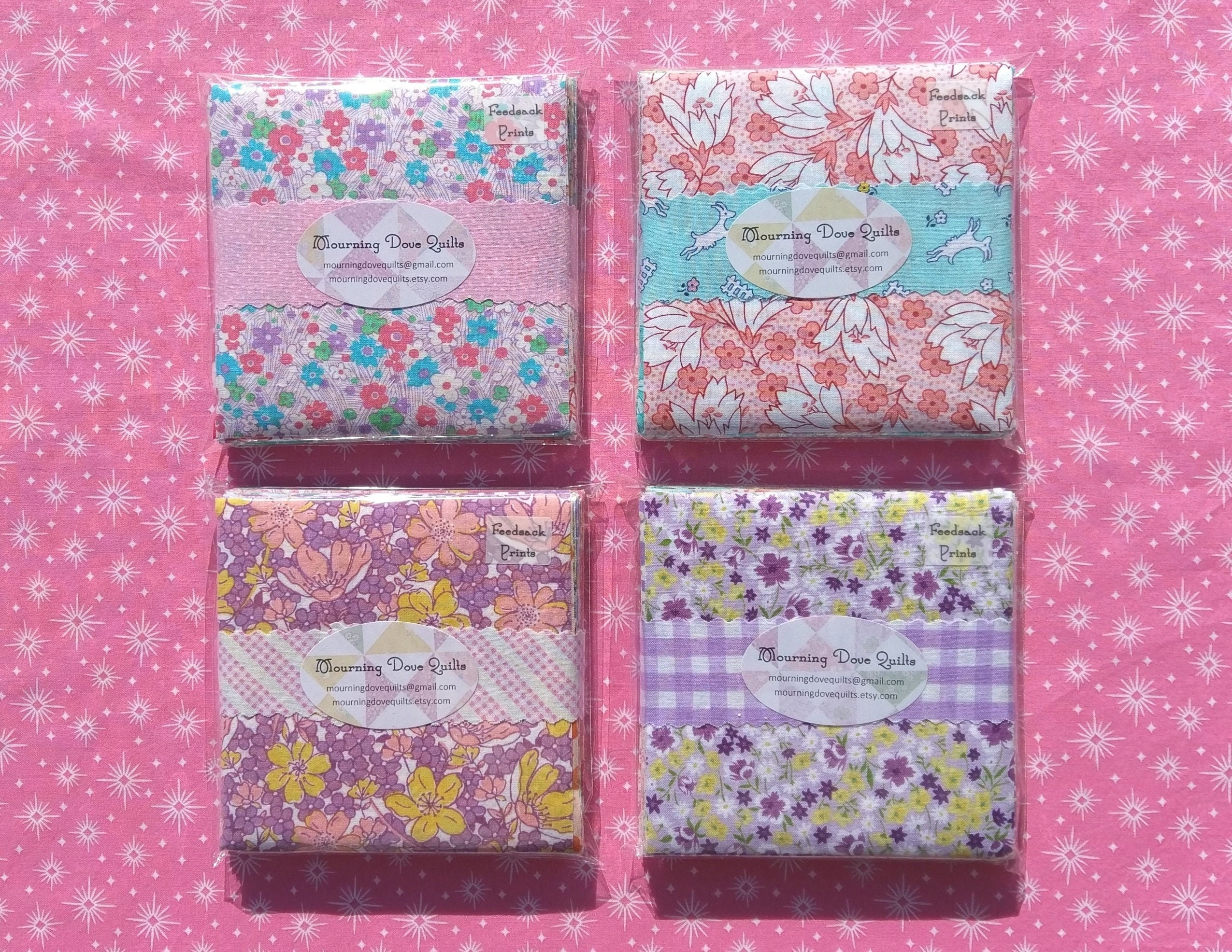 100 4 Antique Calico Reproductions Charms Quilting Squares