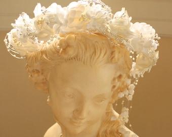Beautiful Vintage Floral Bridal Wreath Headpiece