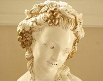 VIntage French Maiden Statue