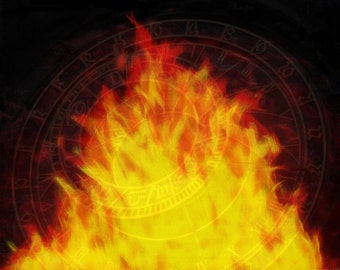 Flames of Time -- Original Signed Fine Art Print (8x10 or 5x7)