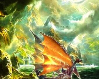 Return of the Dragon Princess-- 8x10 Original Signed Fine Art Print