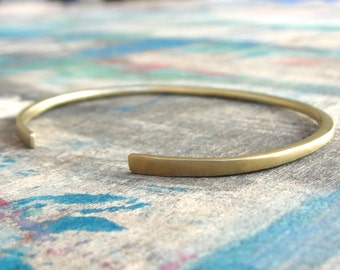 Yellow Gold Cuff Bracelet , Cuff Bracelet , Gold Cuff Bracelet , Stacking Bracelet , Open Bangle Bracelet , stacking cuff bracelet