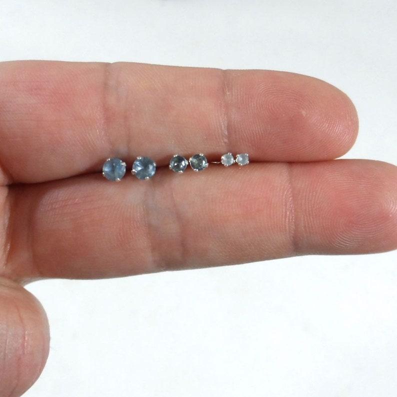 25906fb2c Aquamarine Sterling Silver Stud Earrings Aquamarine Studs | Etsy
