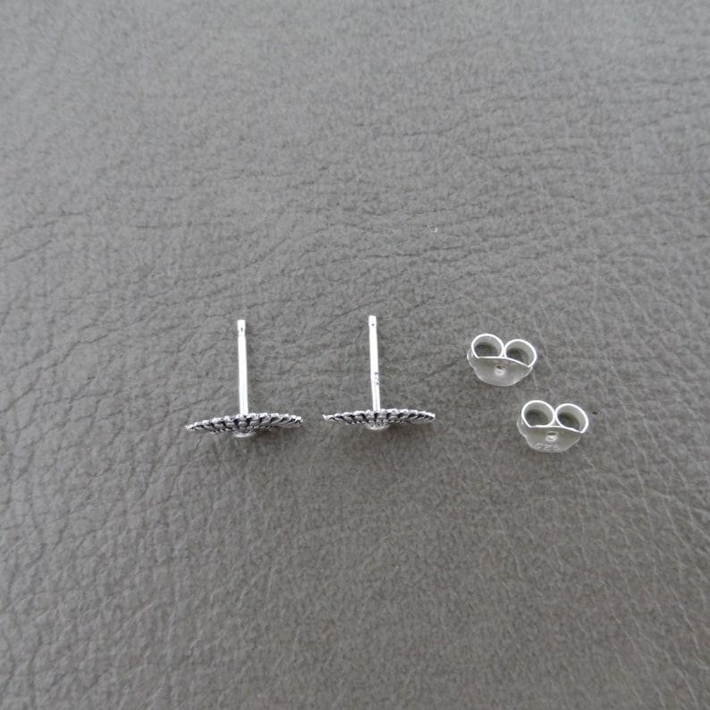 Minimalist Earrings Simple Silver Studs Dainty Stud Earrings in Sterling Silver Delicate Silver Earrings Girls Earrings Fan Earrings