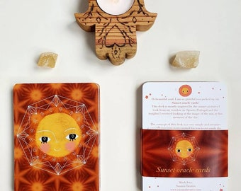 Sunset oracle deck - oracle cards, divination tool, oracle deck
