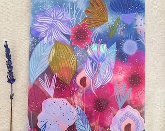 Fairy garden art print - fairy wall art, fae art print, botanical art, fantasy art print, fairy art by Susana Tavares, fairy magic