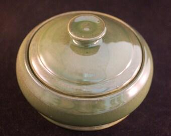 Round Lidded Bowl / Salt Pig / Sugar Bowl / Candy Dish / Dip Server / Coin Holder / Sugar Bowl / Seaweed Green / Gift Under 15