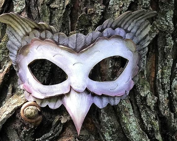 Barn Owl Leather Mask
