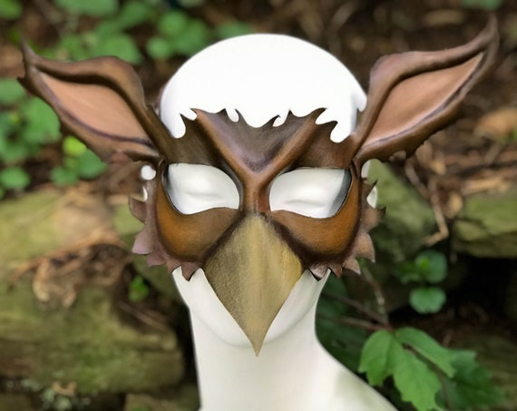 Gryphon/ Griffin  Leather Mask