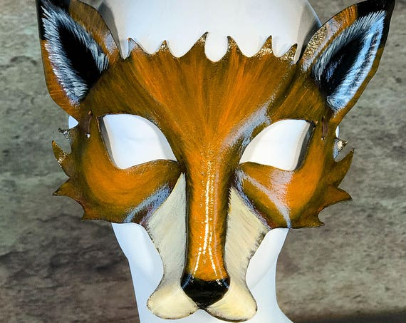 Fox Leather Mask