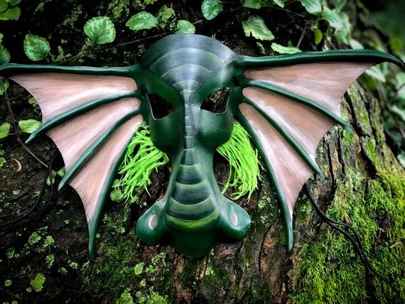 Dragon / Sea Monster Leather Mask