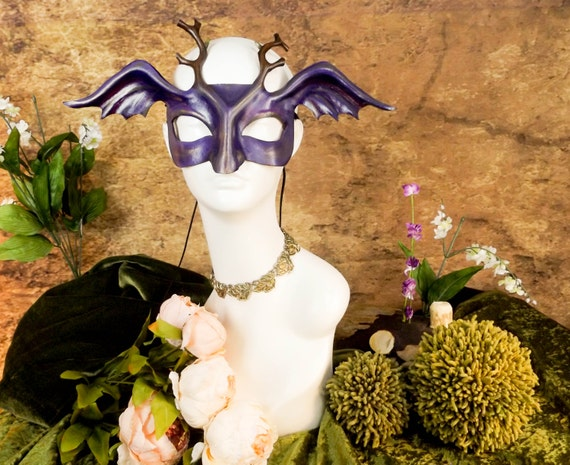 Woodland Pixie Leather Mask