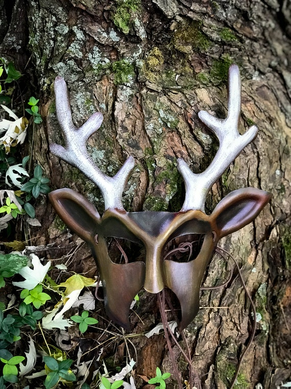 Stag Leather Mask