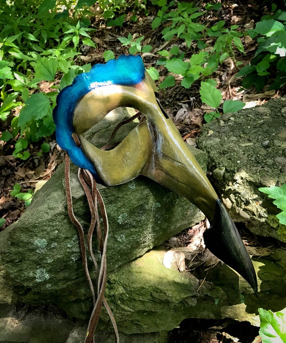 Dodo Bird Leather Mask - Now Available
