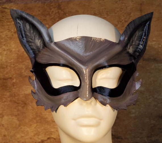 Raccoon Leather Mask