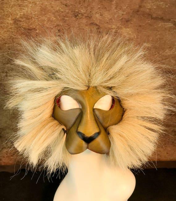 Lion Leather Mask